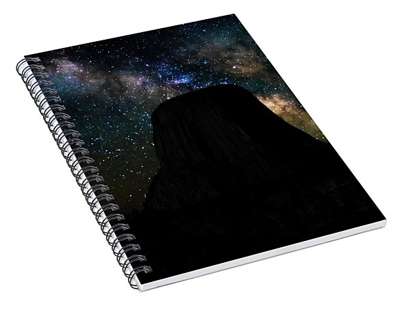 Devils Tower And Milky Way Spiral Notebook