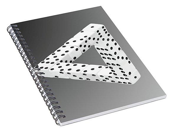 Dice Illusion Spiral Notebook