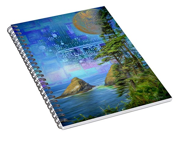 Digital Dream Spiral Notebook