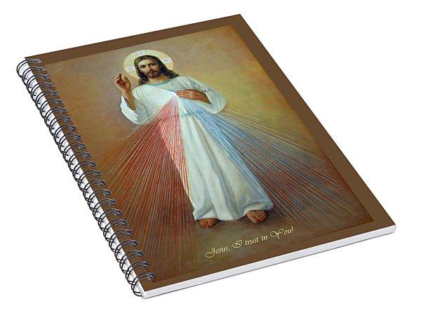 Divine Mercy - Jesus I Trust In You Spiral Notebook