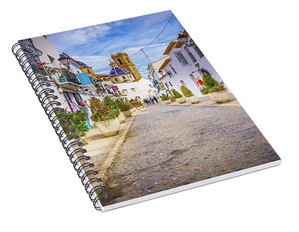 Down The Street, Altea, Spain. Spiral Notebook