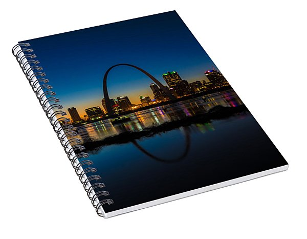 Downtown St. Louis And The Gateway Arch Spiral Notebook
