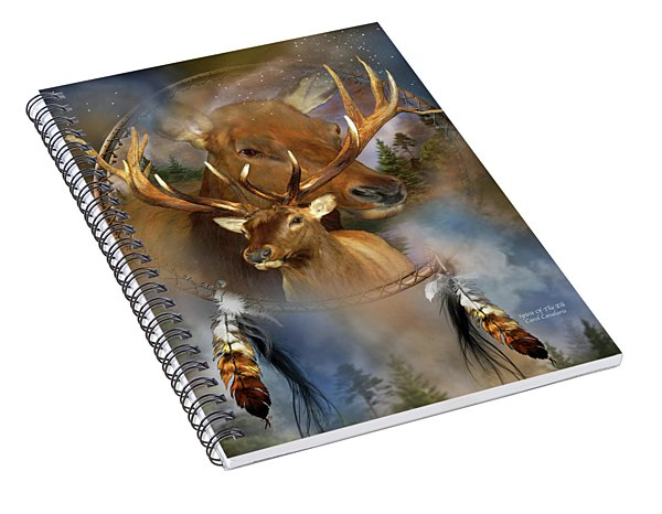 Dream Catcher - Spirit Of The Elk Spiral Notebook