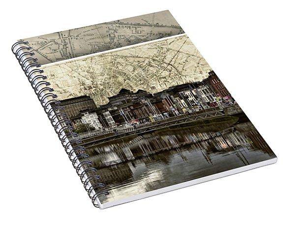 Dublin Skyline Mapped Spiral Notebook