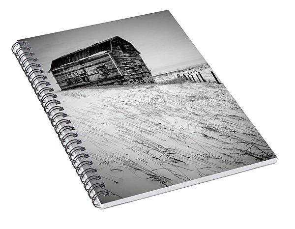 Dutch Barn In Winter Spiral Notebook