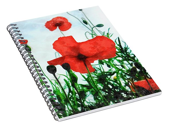 Early Morning Poppy Moment Spiral Notebook