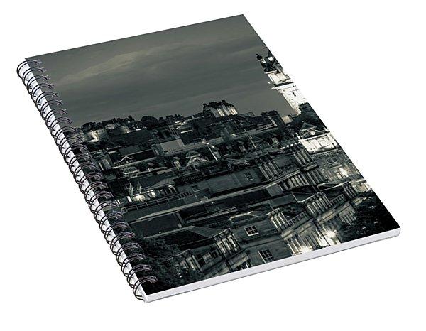 Edinburgh In Black And White Spiral Notebook