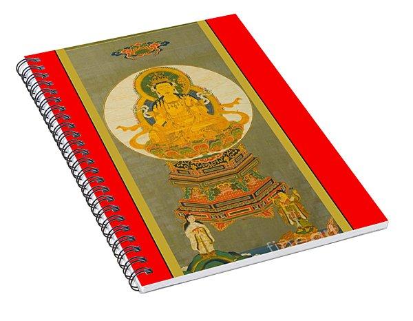 Eighteenth Century Japanese Gilt Seated Buddha Spiral Notebook