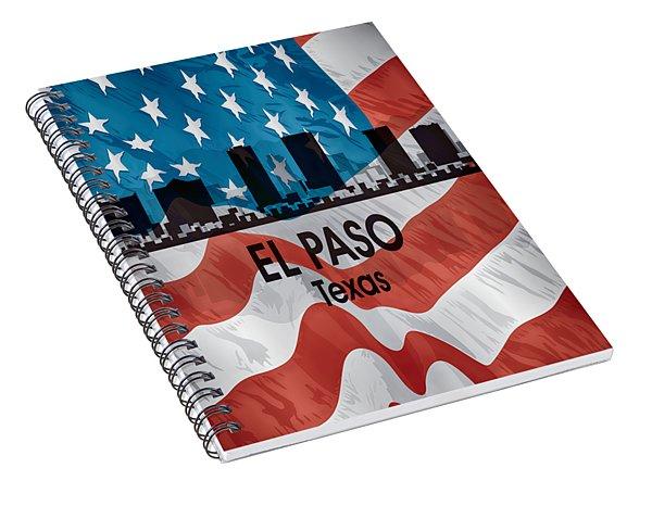 El Paso Tx American Flag Vertical Spiral Notebook