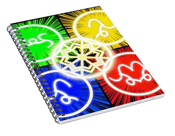 Spiral Notebook featuring the digital art Elements Of Consciousness by Shawn Dall