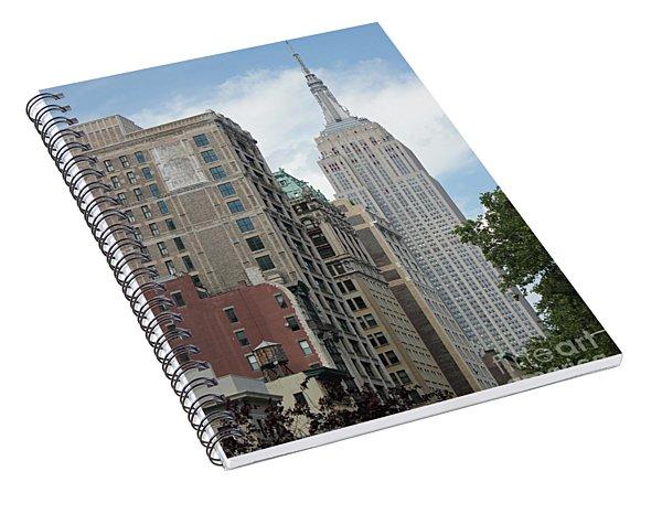 Spiral Notebook featuring the photograph Empire State Building by Wilko Van de Kamp