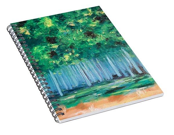 Enchanted Poplars Spiral Notebook