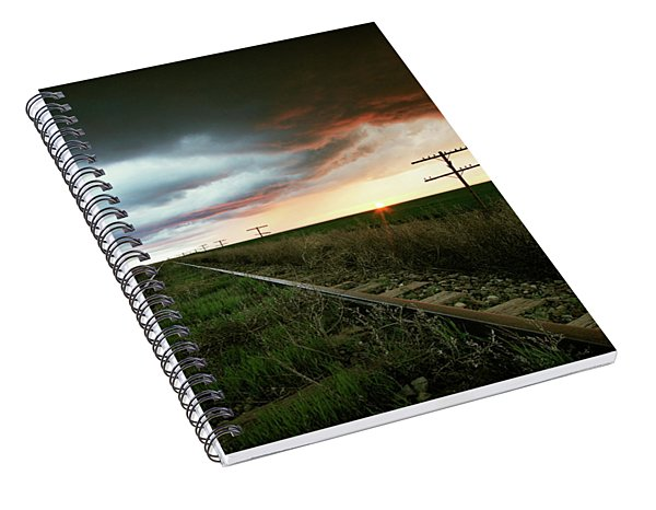 End Of A Stormy Day Spiral Notebook