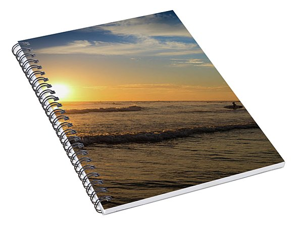 End Of Summer Sunset Surf Spiral Notebook