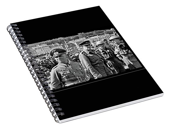 Erwin Rommel And Captured British Soldiers Tobruck Libya 1942 Color Added 2016  Spiral Notebook