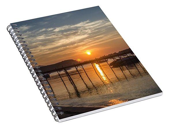 Evening At The Pier Spiral Notebook