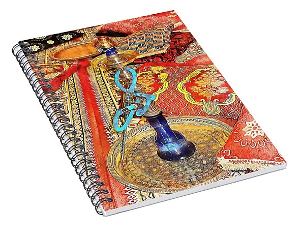 Exotic Oriental Hookah Pipe 4 Spiral Notebook