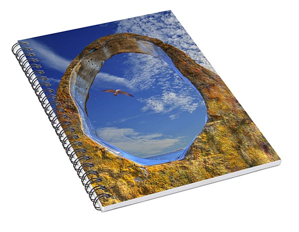 Eye Of Odin Spiral Notebook