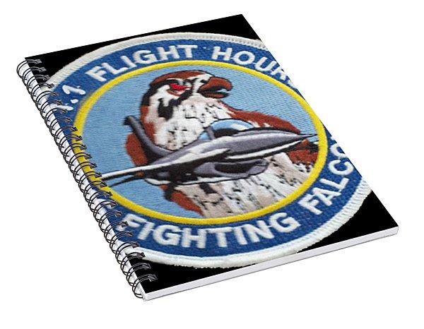 F-16 Ride Patch Spiral Notebook