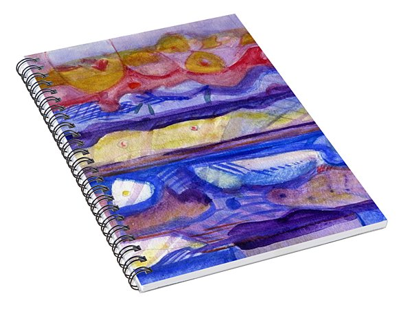 Fabric Of Time Spiral Notebook