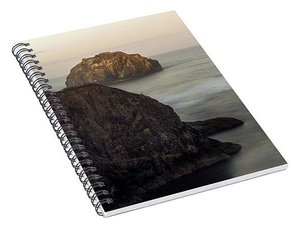 Face Rock Sunrise Spiral Notebook