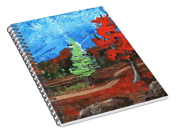 Spiral Notebook featuring the painting Fall Colours #2 by Anastasiya Malakhova