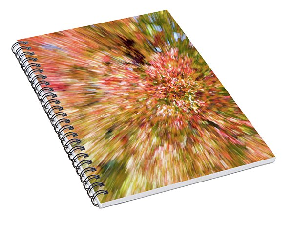 Fall Leaves Abstract 7 Spiral Notebook