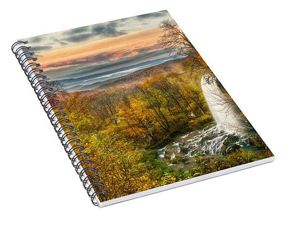 Falling Spring Falls Spiral Notebook