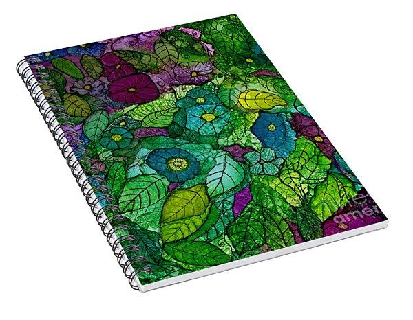 Fantasy Zen Flowers In Alcohol Ink Spiral Notebook