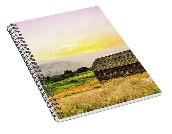 Twilight At The Okanagan Farm House Canada Spiral Notebook