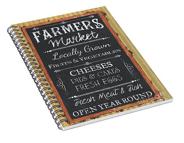 Farmer's Market Signs Spiral Notebook