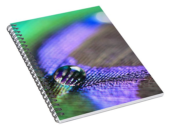 Feathers And Water Drops Spiral Notebook
