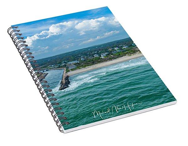 Fenway Beach, Weekapaug,ri Spiral Notebook