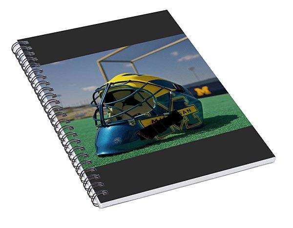 Field Hockey Helmet Spiral Notebook