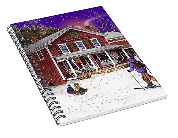 First Snow At The South Woodstock Country Store Spiral Notebook