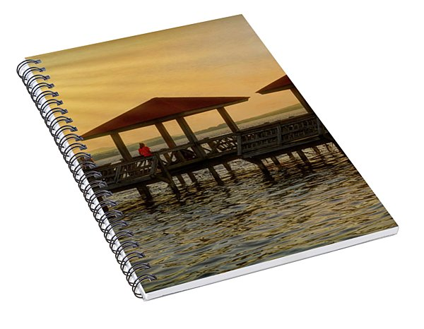 Fishing Pier Spiral Notebook
