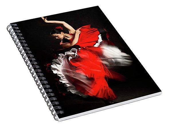 Flamenco Dancer - 01 Spiral Notebook