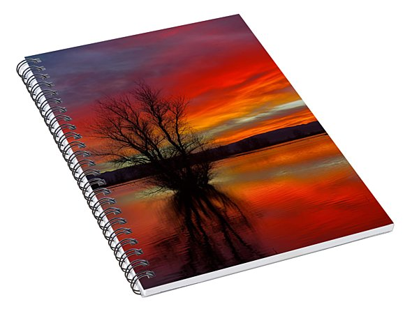 Flaming Reflections Spiral Notebook