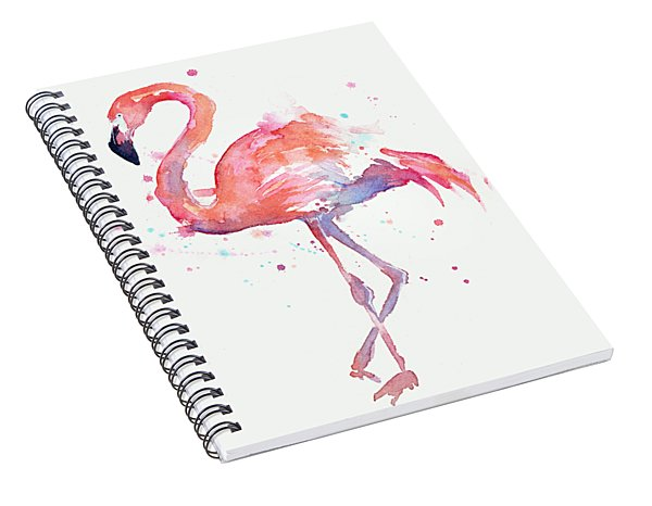 Flamingo Love Watercolor Spiral Notebook