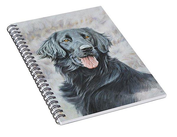 Flat Coated Retriever Portrait Spiral Notebook