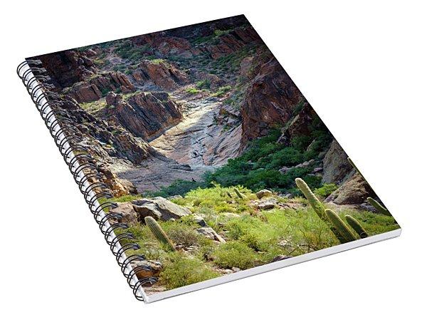 Flat Iron Waterfall Basin Spiral Notebook