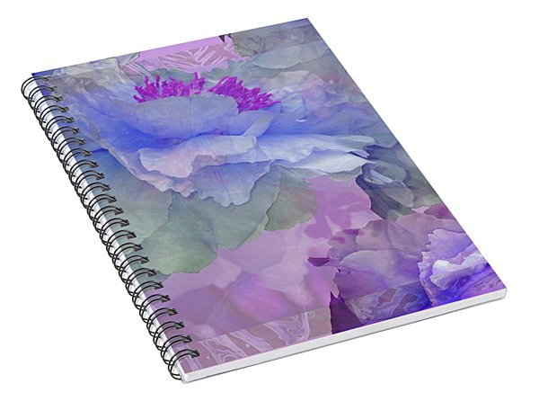 Floral Potpourri With Peonies 4 Spiral Notebook