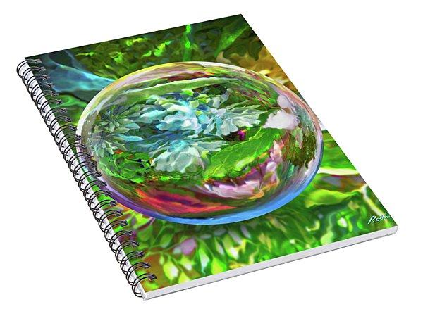 Florascape Spiral Notebook