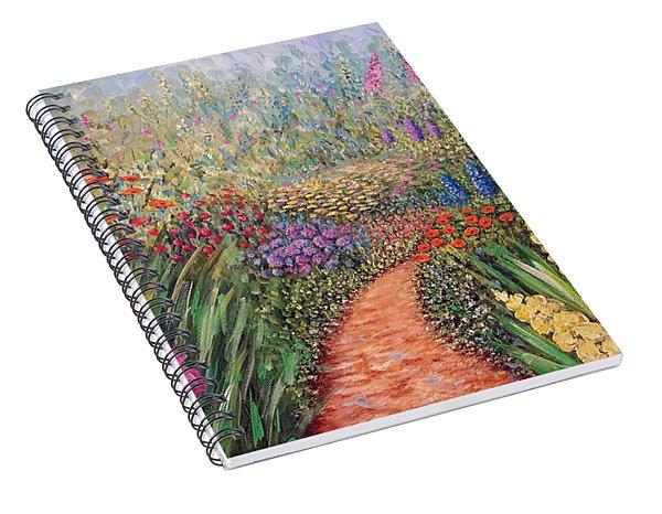 Flower Gar02den  Spiral Notebook
