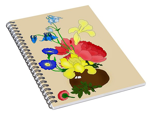 Floral Still Life 1674 Spiral Notebook