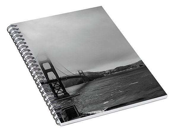 Fog Over The Golden Gate Bridge Spiral Notebook
