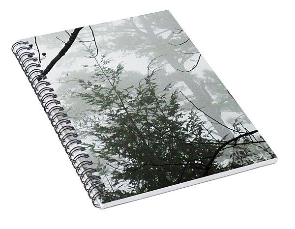Foggy Mountain Morning Spiral Notebook