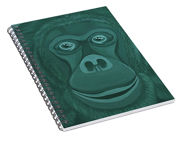 Forest Green Orangutan Spiral Notebook