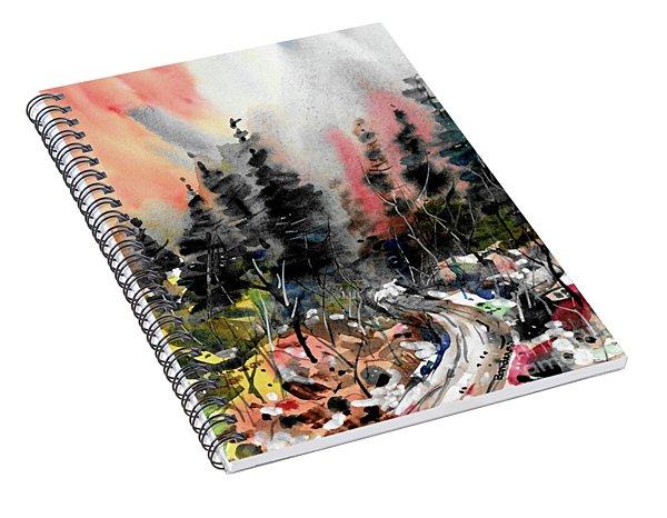 Forest Road Spiral Notebook