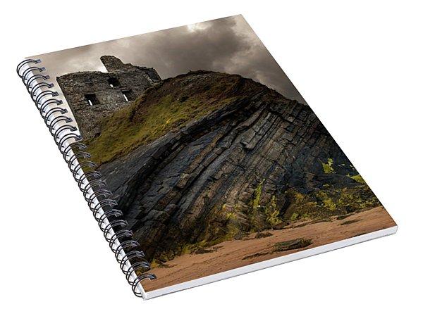 Forgotten Castle In Ballybunion Spiral Notebook